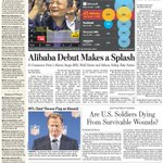 Alibabas big debut, a less-United Kingdom, and a craze for Afrikaans. Take an early look at todays front page: http://t.co/zRld3s5AfZ