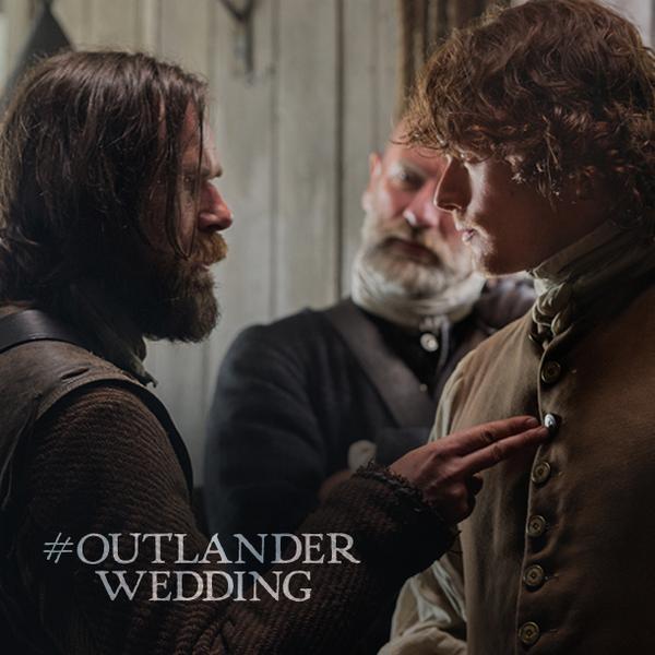 Sam Heughan (@Heughan): The big day is here!!  #OutlanderWedding #Outlander http://t.co/KbCNHnYwFk