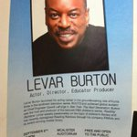 Excited! RT @EmAndPaper: @levarburton can't wait to see your talk tonight! Thanks for coming to Nola!