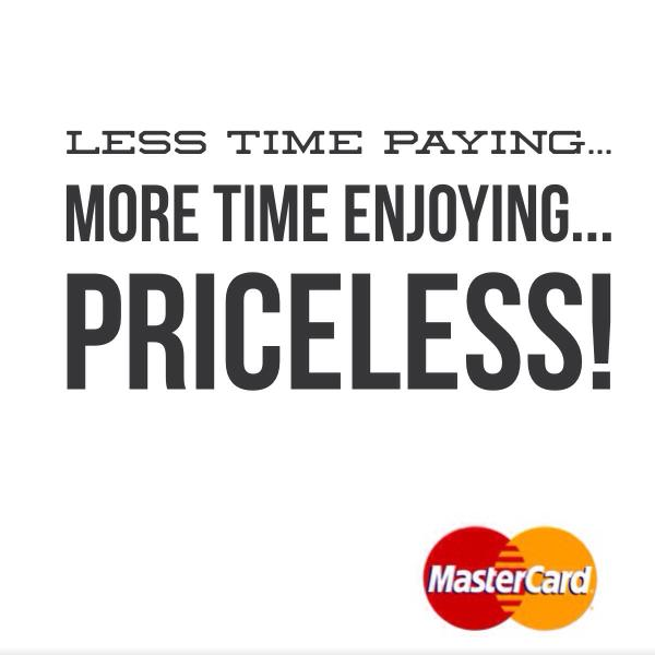 Less time paying... More time enjoying... PRICELESS!  #ApplePay #iPhone6 #AppleWatch http://t.co/J36Tt1nQou