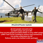 RT @timesnow: #KashmirFloods: Armed Forces and NDRF instensify the rescue operations in Jammu and Kashmir