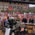 Former FSU volleyball player Gabrielle Reece on the College GameDay set to make picks with the ESPN guys. http://t.co/34iN2zLQrx