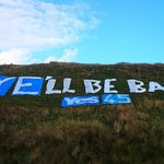 Couldnt take family into town so headed for hills; Campsies. #hillshaveayes #ayellbeback Join @theSNP. http://t.co/mftuc54cFA