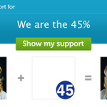 RT @citizentommy: Please help support We are the 45%, add a #Twibbon now! http://t.co/9MQmbUuEEp http://t.co/Yelk4iafcL