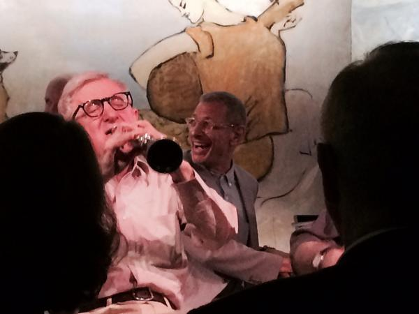Woody Allen and Jeff Goldblum jamming at The Carlyle tonight. Priceless. http://t.co/b1pTb71gFl