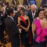 Saluda @EPN a invitados al Grito; en la imagen con el ministro presidente de la @SCJN, Juan Silva Meza http://t.co/HVi3w21V4Y
