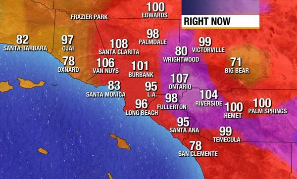 How hot will it get today? Already 108 in Santa Clarita! http://t.co/7h0yLRBpCZ http://t.co/eHkYtOoaV4