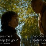 RT @gameofquote: #TyrionLannister: Forgive me if I dont weep for you #LordVarys #GameofThrones #GoTQuotes #GoT http://t.co/uGfAbChvP7 http://t.co/NolxTRVaza