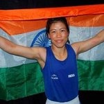5 time world boxing champion Hmangte #MaryKom leads India to the seventh gold in Asian Games 2014. congratulations! http://t.co/IlWbWc7mxJ
