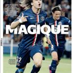"""RT @PassionFootClub: [#LDC] La UNE de lEquipe du jour : """"MAGIQUE"""" ! http://t.co/5iptTP04XR"""