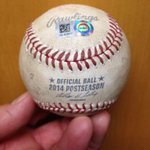 RT @MLB_Authentic: Walk-off winner for the @Royals! Heres the ball @SalvadorPerez15 lined down the left field line to win the game! http://t.co/t8OdpKH16N