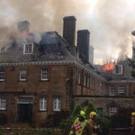 RT @kennytoalitv: At the scene of huge fire at Crathorne Hall north yorks http://t.co/U2wsrzxuUp