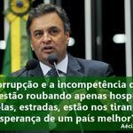 RT @_souaecio: Aécio diz que PT destrói valores como não mentir e não roubar.http://t.co/ZngTWFZ3UO http://t.co/AJoLwgecV3
