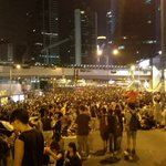 RT @freakingcat: Admiralty 23.00 have #OccupyCentral #UmbrellaRevolution http://t.co/mzmLzuYCle