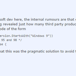 RT @mikko: A Microsoft developer explains in a Reddit thread why Windows 10 is called Windows 10. http://t.co/qJFi8yJEJg