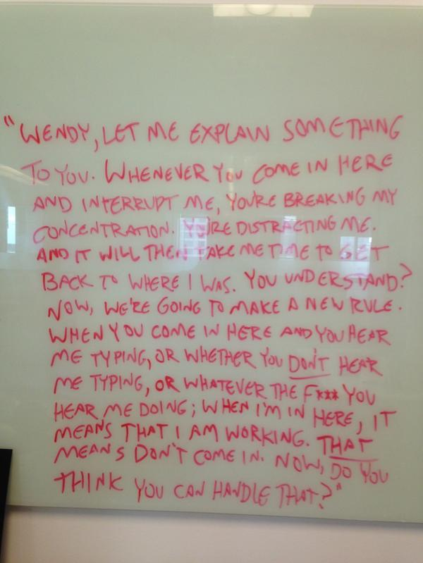 I like to put inspirational writing quotes up at work. http://t.co/aqPebYQfKu