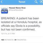 Heads up Oahu???? #Ebola #keepclean http://t.co/weD4G9dF1f