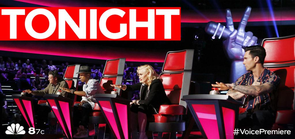 Our coaches are ready to push their buttons during TONIGHT's #VoicePremiere at 8/7c on @nbc! http://t.co/f46kT5TSYv