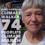 June will be walking for 30 days from Melb to Canberra! >http://t.co/MmlLn6FSnZ< @GetUp #PeoplesClimate #Melbourne http://t.co/6LjsBv5RmY