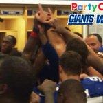 RT @Giants: Photo from your @PartyCity #Giants winning locker room! Giants Postgame Live on MY9 or here: http://t.co/SK4JLdnvmN http://t.co/h2QEVYgUOL