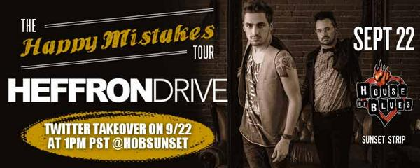 Tomorrow at 1PM PST, @HeffronDrive is taking over our Twitter account! Get your questions ready for the guys! http://t.co/wFrxS72St4