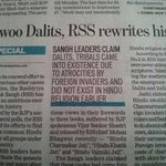 RSS planning to rewrite Indian history about Dalits and tribals. All set to blame Muslim rulers http://t.co/W3oGSpD6Ok