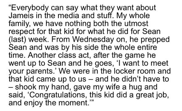 Before I finished talking to Sean Maguire's dad, Kevin, he wanted you to know his family's thoughts on Jameis Winston http://t.co/W3IJHterqu