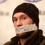 RT @BBCSport: Tyson Fury tapes mouth and refuses to talk in protest ahead of Dereck Chisora rematch http://t.co/qhQcS96iQh http://t.co/rc2meOb96o