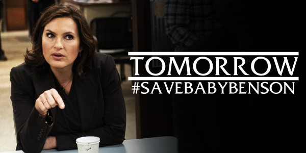 Benson expects you at the precinct tomorrow at 9/8c to #SaveBabyBenson. http://t.co/b0ggcVYdVy