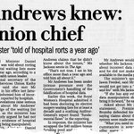 Then Health Minister Daniel Andrews knew about hospital rorts, didn't do anything. #springst http://t.co/4UGXJujNz5