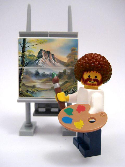 Any other #BobRoss fans in the house? This is guaranteed to make your day! #painting #legend #art #lego #love http://t.co/Jh21Djbbv3