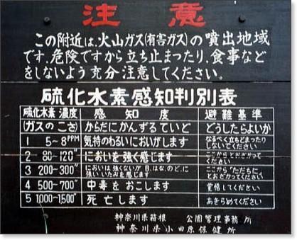 硫黄の危険性についての注意書き。分かりやすいが、冷酷すぎる。 http://t.co/ZgEBsYrAcL
