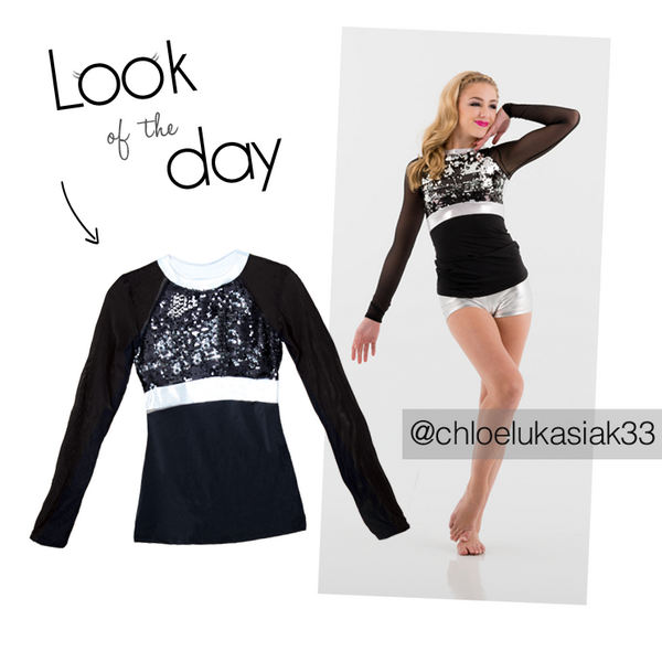 Chloe is rocking our look of the day today! Get the Dashing Top here http://t.co/Xlnu4hd1H6 #jfkdance #dance #fashion http://t.co/tuTjovHI6P