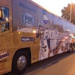 Be Royal Fan Express bus just pulled up on the Plaza packed with free giveaways for fans. http://t.co/E1QrlcvAjq ^KF