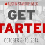 RT @Hugh_W_Forrest: Stoked about Austin Startup Week. The great content & networking begins Mon, Oct 6. http://t.co/5AGOMxwnjK #startups http://t.co/zzLVwo6LVB