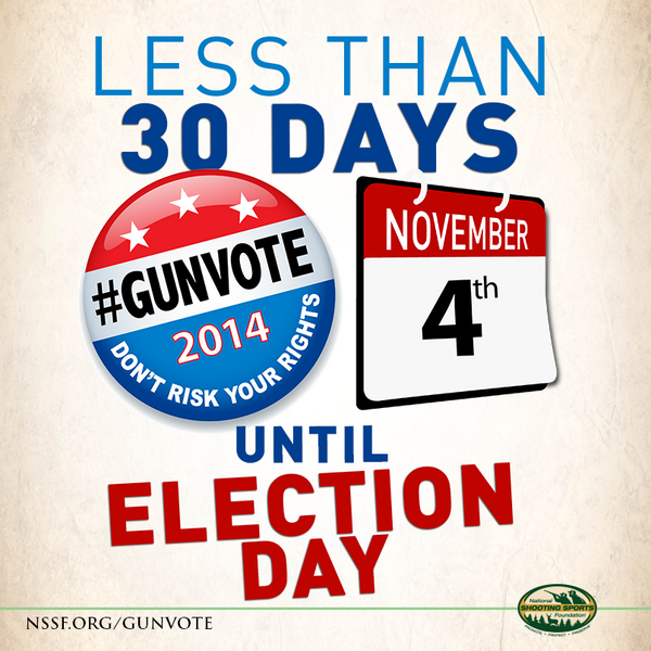 Shooters, hunters, gun owners. Almost time to make our collective voice heard. #GUNVOTE http://t.co/w75rUibj6K http://t.co/xAUbyoSHCj