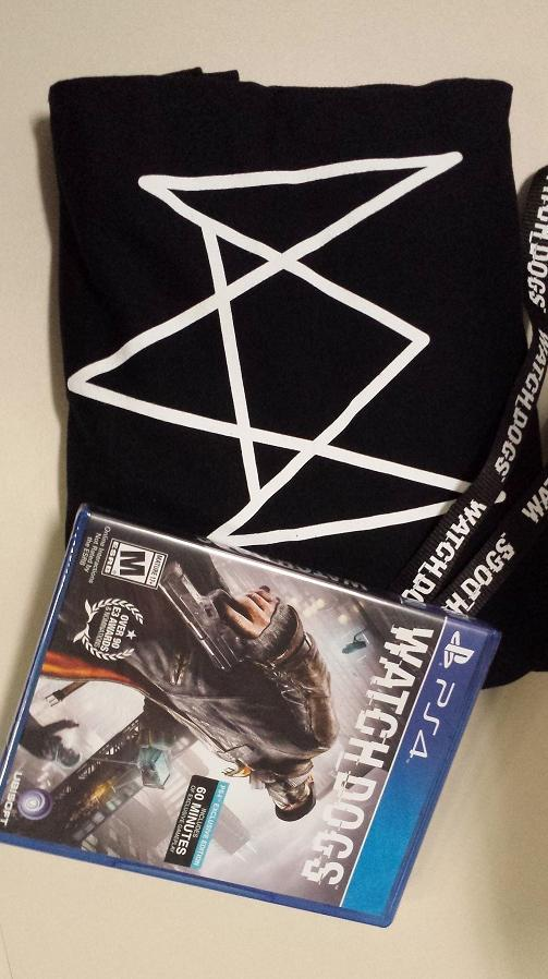 Giveaway time! RT for your chance to win a copy of #WatchDogs on PS4, a t-shirt, and a lanyard! http://t.co/GFfxa4DVGe