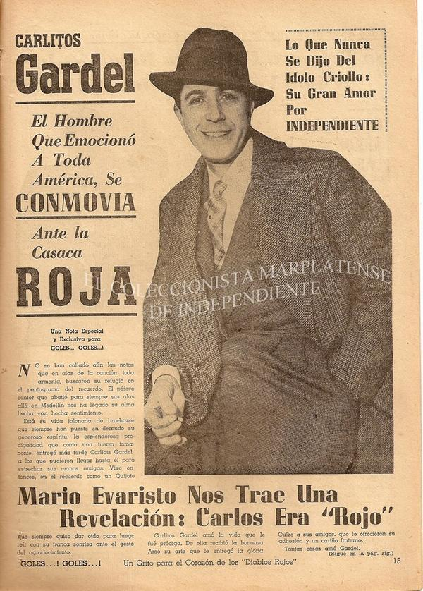 Carlos Gardel, el Zorzal Criollo, era de #Independiente!  http://t.co/mGlyxmQX1A