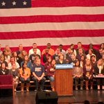 """.@amyklobuchar at the #MNVotesEarly rally: """"The outcome of this election? Its up to us."""" http://t.co/tFHeSAkbHa"""