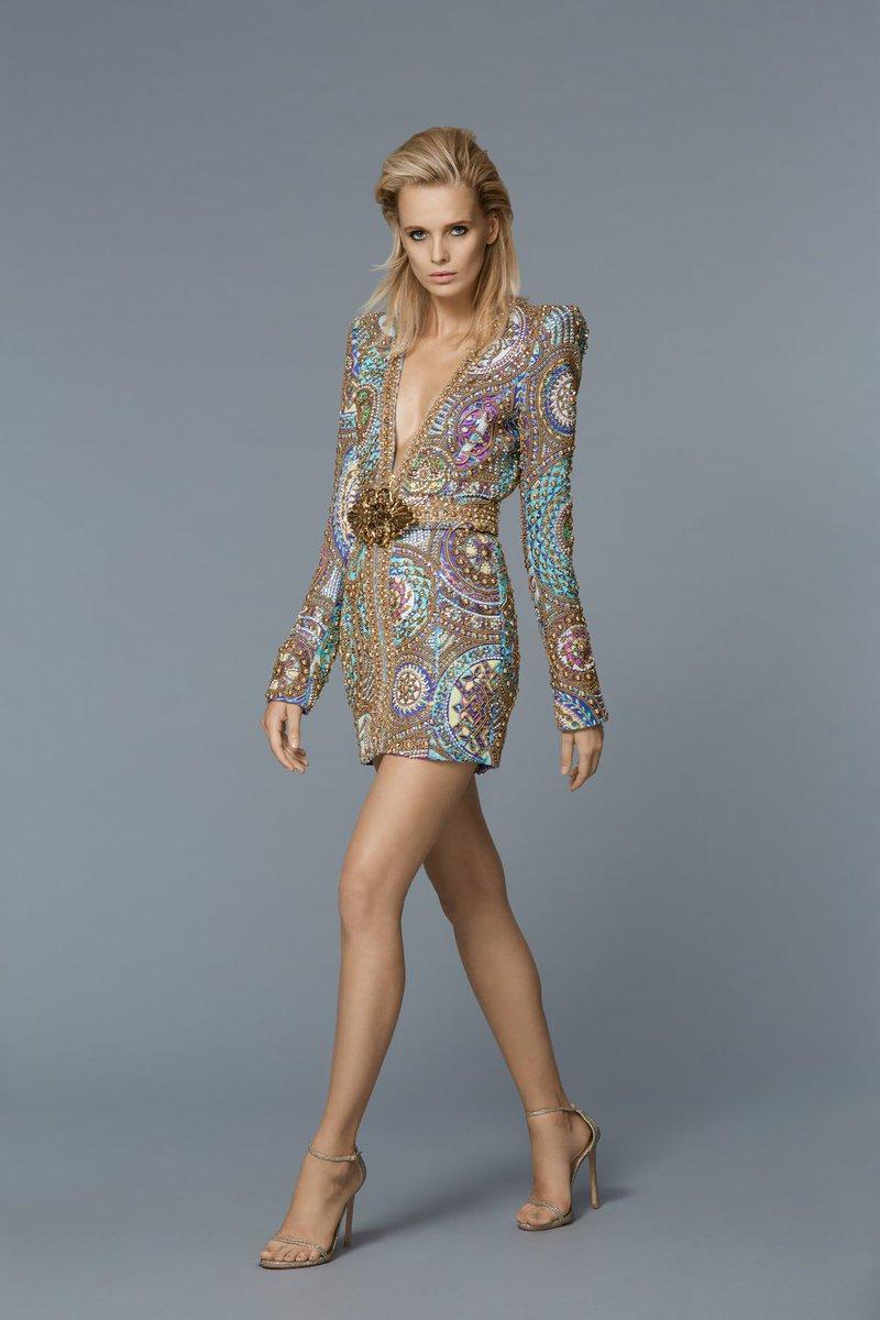 Larsen thompson wore a spring 2017 iridescent embellished dress to ...