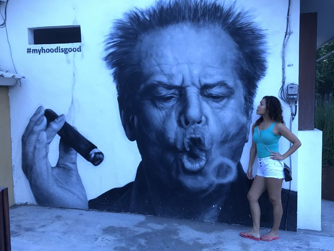 Happy birthday Jack Nicholson. A mural in Seminyak, Bali. Perfect timing.