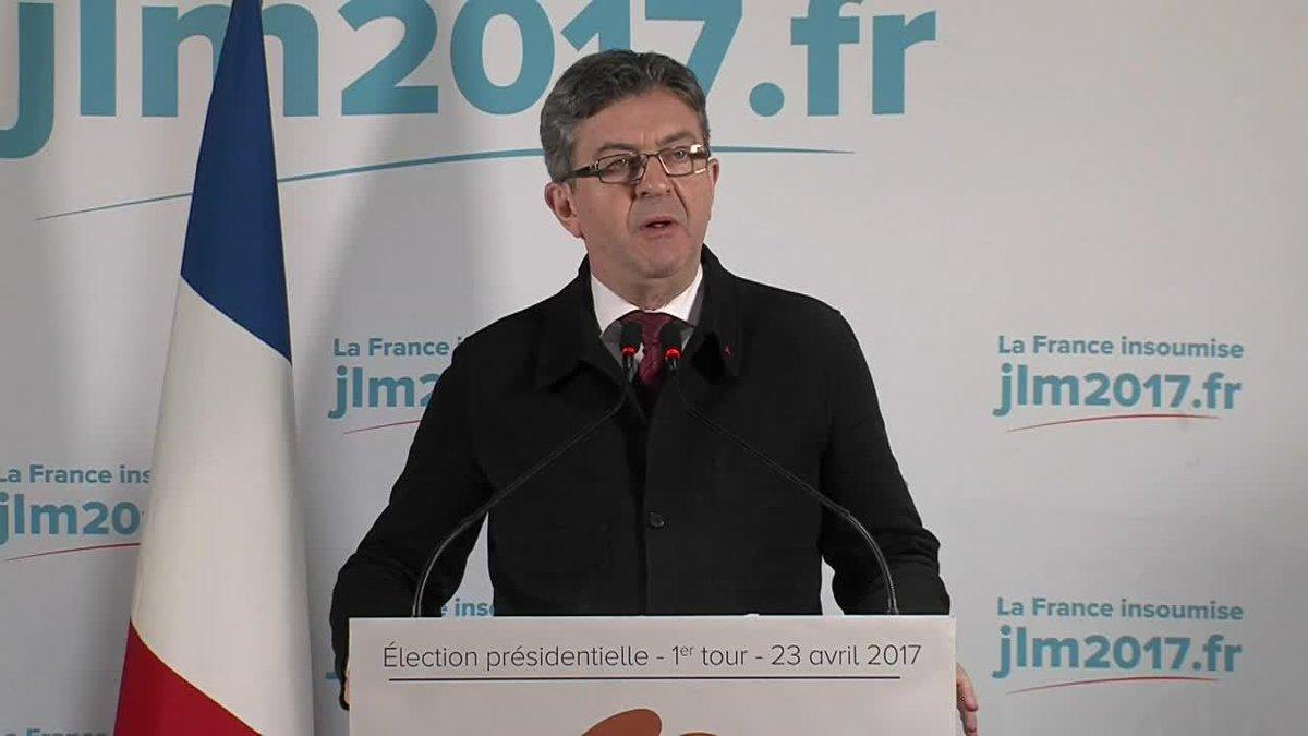 Amer après son pari perdu (de peu), Mélenchon ne donne pas de consigne de vote entre Macron et Le Pen https://t.co/cHqbeJsQiA