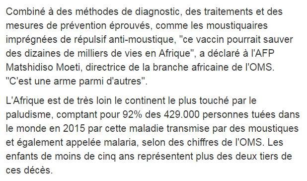 Afrique : premier test à grande échelle pour un vaccin antipaludique https://t.co/ZqkY3nTpKN par @nicodelaunay #AFP