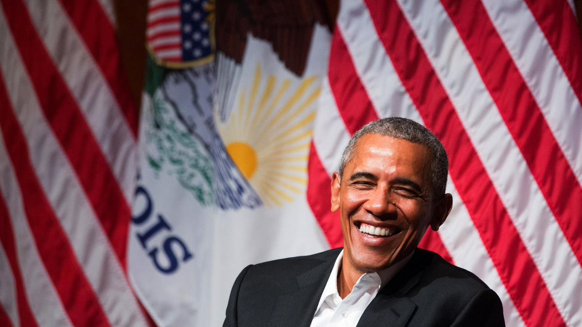 Young people make Obama optimistic, he says in first public event of post-presidency