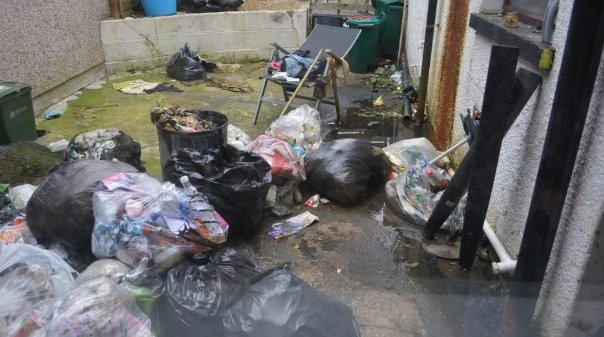 Horrified landlord left with £5,000 clean-up bill after 'disgusting wild pig' tenants leave flat covered in filth and muck