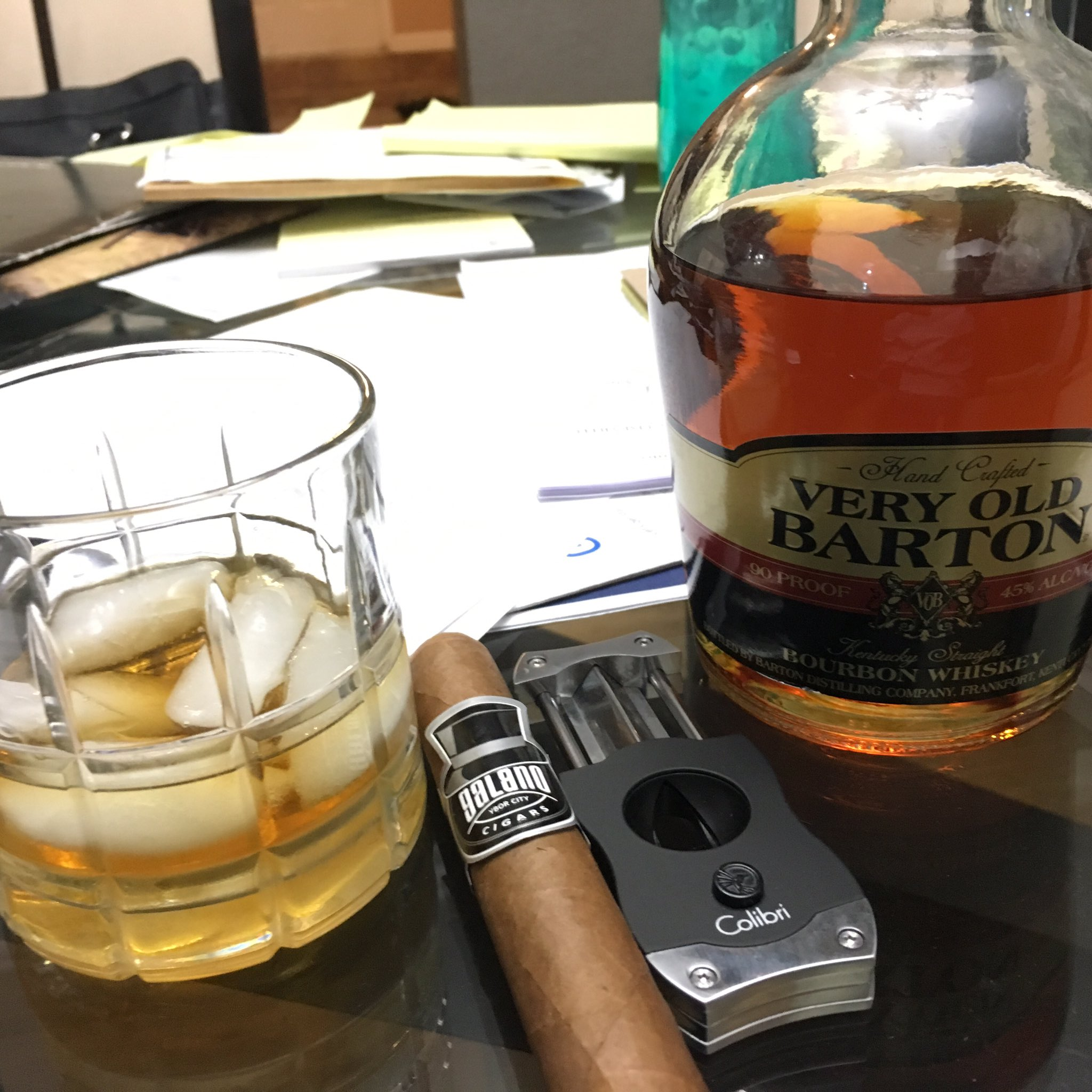 You know you had a long day at work, when you need a glass of #bourbon and a #cigar https://t.co/5743YHD0Ei