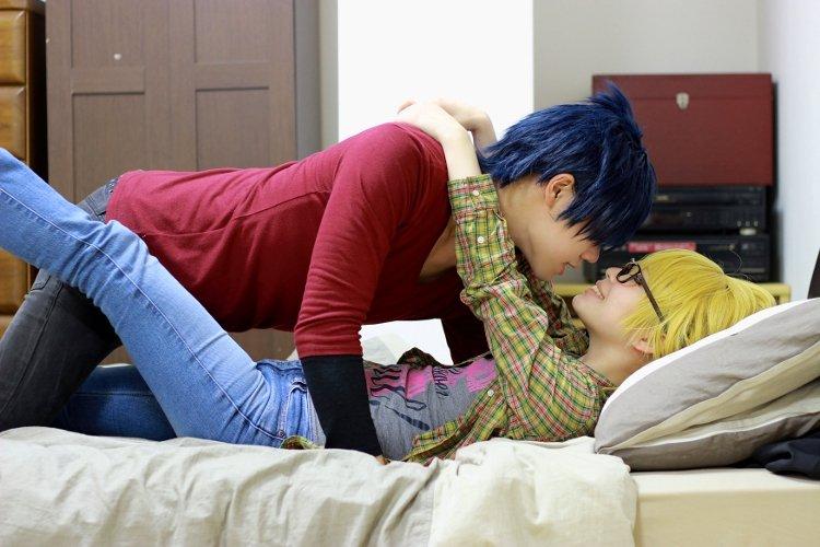 【love stage】「跳び越えられそうじゃん?」※コスプレ瀬名泉水:ぴの太郎一条龍馬:HIKARU  #lovest