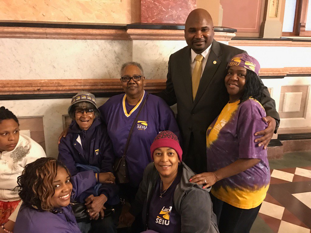 test Twitter Media - Welcoming members of SEIU to the Capitol as they fight for a full budget and funding to stabilize higher education. https://t.co/9dIdR2HJNm