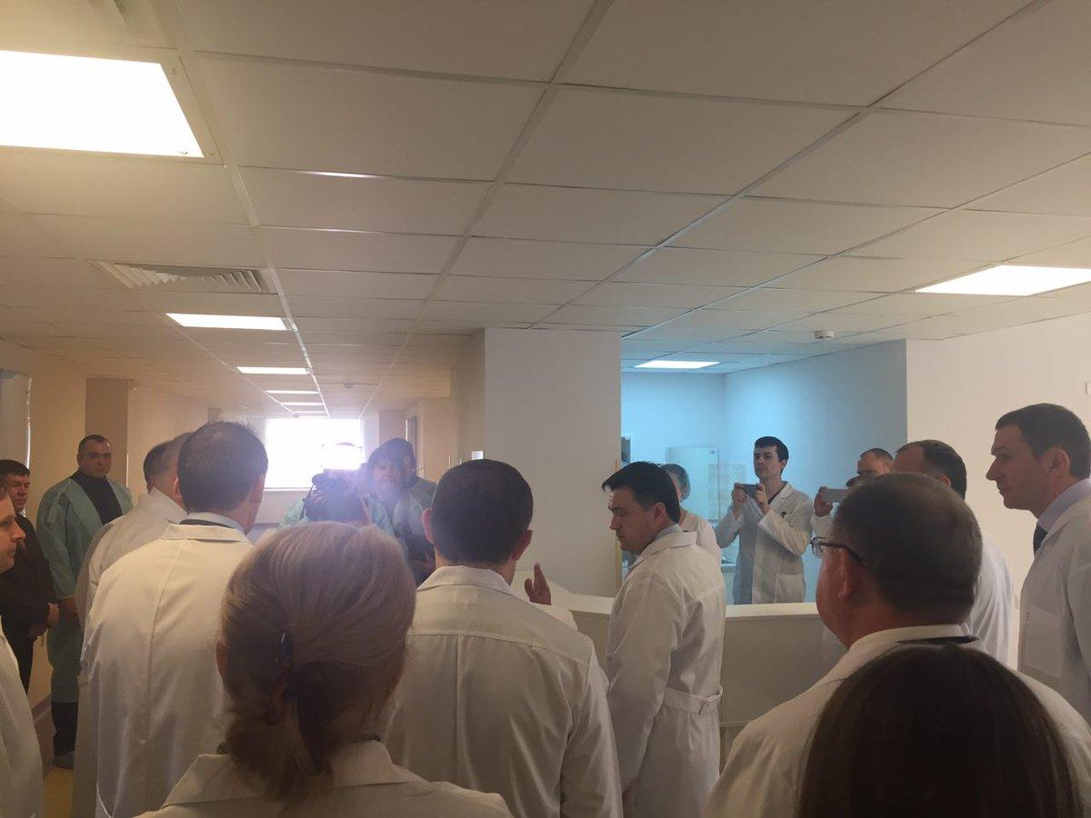 #АндрейВоробьев посетил отделение абдоминальной хирургии #Балашиха #здравоохранение #МО https://t.co/QtYFlk4Dq4
