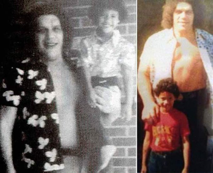 Happy 45th Birthday to Pictured here with the late great Andre The Giant